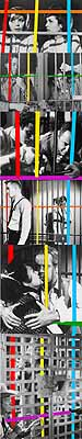 Six Barriers: With People (from Red/ Yellow/ Blue/ Orange to Red/ Yellow/ Blue/ Violet), 2004