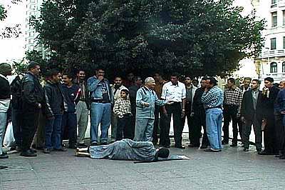 Kimsooja, A Homeless Woman, Cairo, 2001. DVD still. Courtesy Peter Blum Gallery, New York.