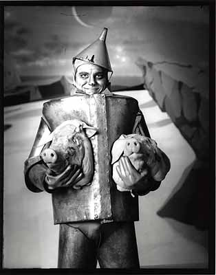 Michael Garlington, Tin Man on Pig Planet, 2000, gelatin silver print. Copyright the artist, courtesy of Stephen Cohen Gallery