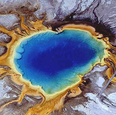 Grand Prismatic Spring, Yellowstone National Park, Wyoming, USA, 1982