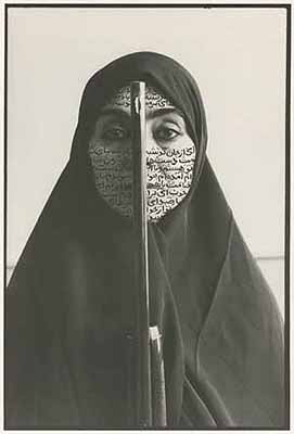 Shirin Neshat Rebellious Silence 1994 B&W RC print & ink (photo taken by Cynthia Preston) 11 x 14 inches Edition of 10 + 1AP © Shirin Neshat Courtesy Gladstone Gallery
