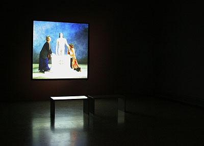 Bill Viola, Emergence, 2002 Video Installation, Photo: Karen Blindow