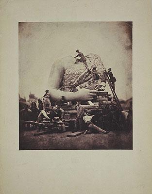 Alois Löcherer. Transport vom Rumpf der Bavaria aus der Gießerei zu der Theresienwiese, München 1850, Museum Ludwig/Sammlung Agfa