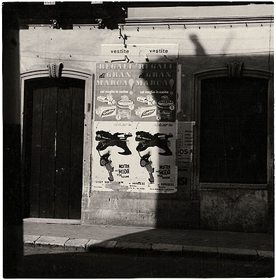 Brindisi, Italy, 1961 Gelatin silver print 3 1/2 x 3 1/2 in. Whitney Museum of American Art, New York; Gift of the artist; courtesy Gagosian Gallery 2004.250 ©Edward Ruscha