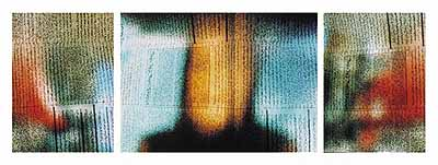 Mehran MohajerT.V. SERIES (The light is out the room is dark), Tripych