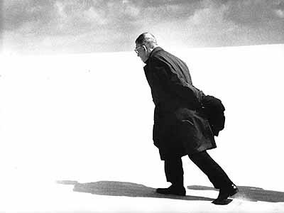 Antanas Sutkus. Jean-Paul Sartre in Lithuania. Nida, 1965.Courtesy: White Space Gallery. Copyright. Antanas Sutkus.