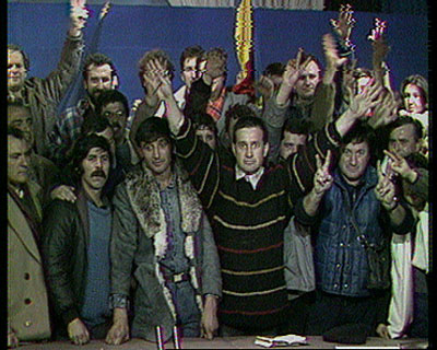 Index: Harun Farocki, still from Videogramme einer Revolution, 1992
