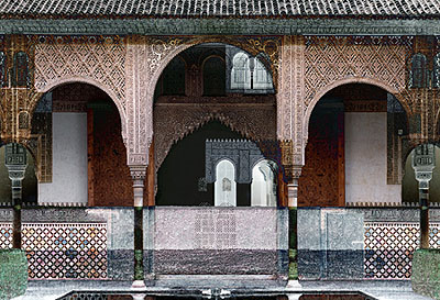 Roland Fischer Black Alhambra, 2006 C-Print/Diasec 171,5 x 239,5 cm and 118 x 163,5 cm Edition of 5