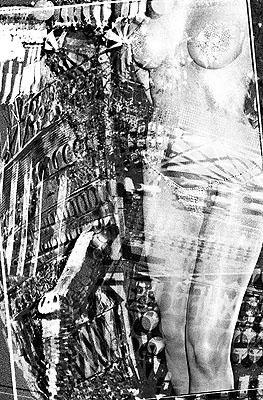 Katharina Sieverding Encode 13 2006 A / D / A Prozess, Acrylic, Steel, 190 x 125 cm (bzw. 125 x 190 cm) Courtesy: Galerie Christian Lethert, Köln