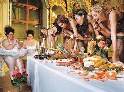 Olaf Martens Ballett 240 Tonnen, Natasha, Sveta, Katya, Ulyana, Vika, Shuvalovskij Dvorets, 2003 Courtesy of Galerie f5,6, Munich