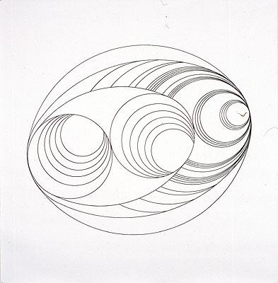 Annamaria & Marzio Sala, Chronimage 9, 1995 Tusche auf Leinwand, 160 x 160 cm im Besitz der Künstler