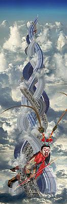 CHI PENG, Five Elements Mountain, 2007, c-print, 365 x 120 cm, Courtesy ALEXANDER OCHS GALLERIES BERLIN I BEIJING