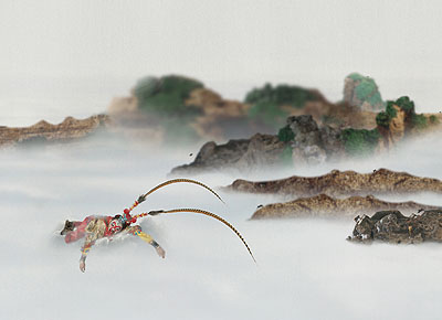 CHI PENG, Hua Guoshan, 2007, c-print, 120 x 630 cm, Detail, Courtesy ALEXANDER OCHS GALLERIES BERLIN I BEIJING