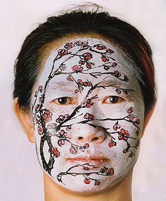 Huang Yan Face Painting, Plum 2004 Set of 4  C-Print Signed, dated and numbered 2 Different sizes 39 3/8 x 47 in. (100 x 120 cm)47 x 59 in. (120 x 150 cm)Edition of 15