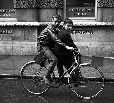 Two boys on a bike. Dublin 1963 © www.edwardquinn.com