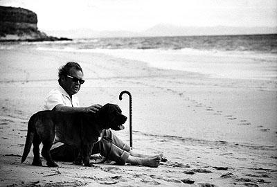 © Robert Lebeck . Willy Brandt, Fuerteventura 1972