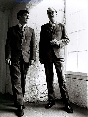 Angelika Platen (*1942)Gilbert & George, Kassel, 1972Oversized gelatine silver print (120 x 80 cm) mounted on aluminiumSigned, titled, dated, and numbered, in an edition of 5