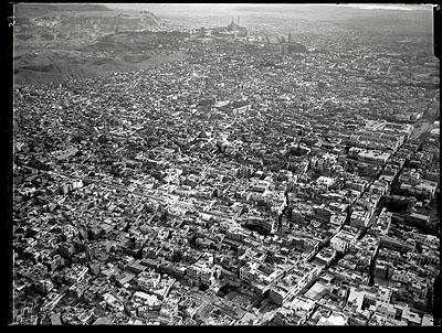 Eduard Spelterini, Kairo aus ca. 800 m Höhe, 30. Januar 1904,Eidg. Archiv für Denkmalpflege, Graphische Sammlung der Schweizerischen Nationalbibliothek