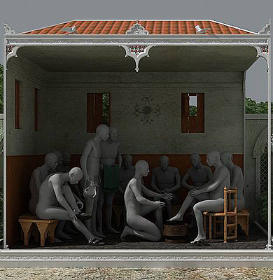 Miao Xiaochun; The Washing of the Feet, 2007, C-Print, Ed: 12 123 x 120 cm, Courtesy ALEXANDER OCHS GALLERIES BERLINI BEIJING
