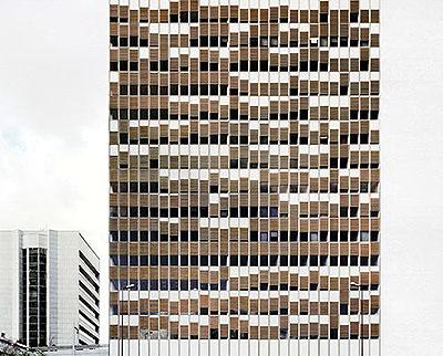 Puteaux, France, avril 2004. Trompe-l'œil series.Lambda print. 126 x 150 cm.
