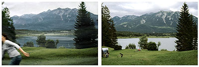 Exposure #44: Barmsee, Bavaria, 08/18/06, 4:37 p.m.2006Ultrachrome ink on cotton paper2 parts: 112 x 168 cm/44 x 66 inches each Edition of 5