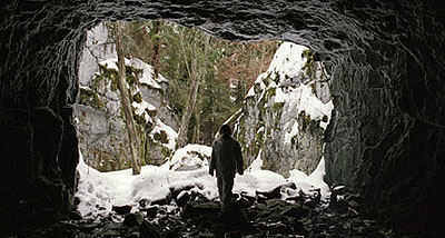 Salla Tykkä, Cave, 2003, 35 mm film still. Courtesy of the artist / Yvon Lambert Gallery, New York.