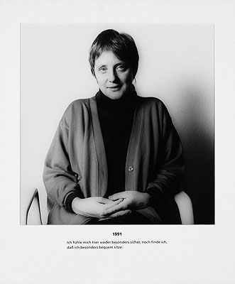 Herlinde Koelbl, Angela Merkel (from the series: Spuren der Macht), 18Gelatin silver prints, 1991-2006, from an edition of 3 (auction 913, Lot 125)