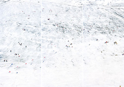 Walter NiedermayrSchnalstalgletscher 382003C-print3 panels, each 220 x 104 cmEd of 6Courtesy the artist and Galerie Nordenhake Berlin/Stockholm