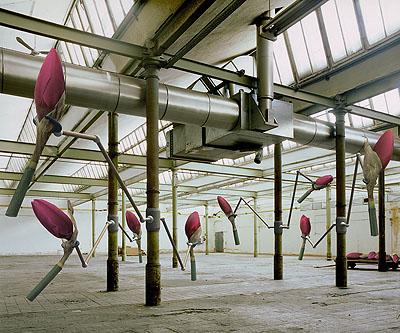 Georg Hornung, Fertigung, 2007, Pigmentdruck auf Leinwand, 90 x 110 cm