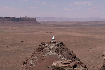 Monument Valley Flight Attempt (Video Stills), 2006, 2 minutes 41 seconds, Edition of 5