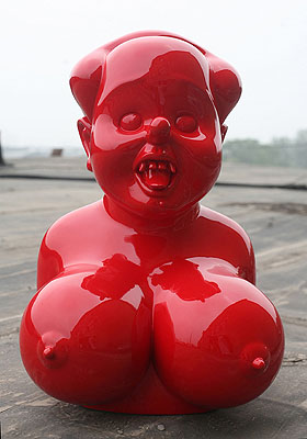 Miss Mao No.3  2007Size: 58x38x36cmMaterial:Painted fiberglassEdition: 8