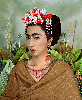 An Inner Dialogue with Frida Kahlo 2001 © Yasumasa Morimura