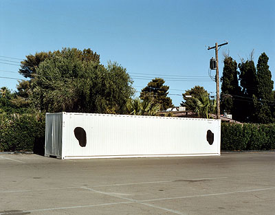 Container with black dots 2007, C-print