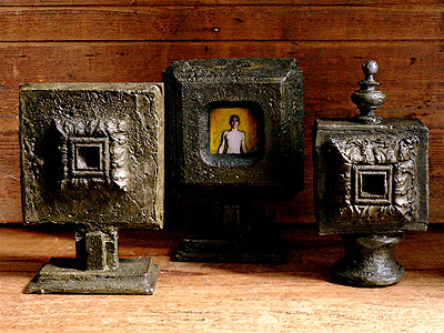 Corpus de Boites à secrets photographique, Pièces uniques , épreuves argentiques, plomb. © G.M.Martin 2007