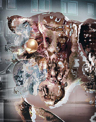 StrahlenmannMartin Denker 2005Format: 106 x 84,8Material: Technik: C-PrintAuflage: 6