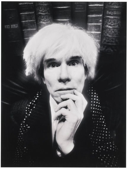 David LaChapelle Andy Warhol: Last Sitting, 1986Chromogenic print 23  x 17.5 in.. Est. US$18,000–22,000