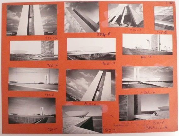 Lucien Hervé:  Brasilia, Congrès National (Oscar Niemeyer), 1961