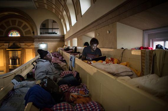 """© Maria Feck, aus der Serie """"Lampedusa in Hamburg"""""""