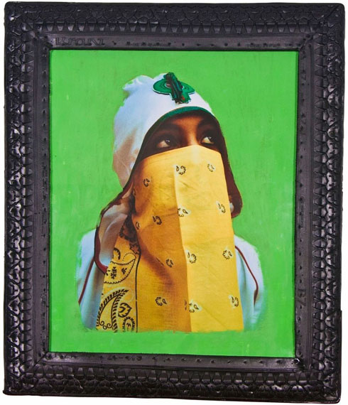 Hassan Hajjaj, Y bandana veil in green, 2006. Courtesy of the artist.