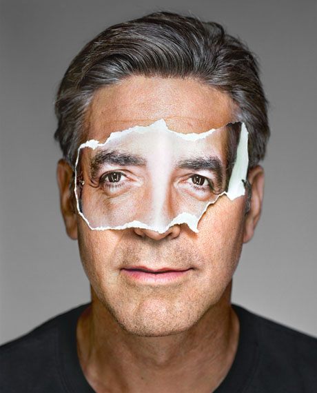 Martin Schoeller · George Clooney with Mask · New York · 2008