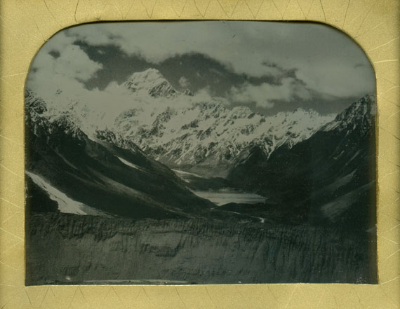 James Tylor: Te Aoraki, Aotearoa (Mount Cook, New Zealand), 2015. Becquerel daguerreotype, 10 x 12.5cm. © James Tylor