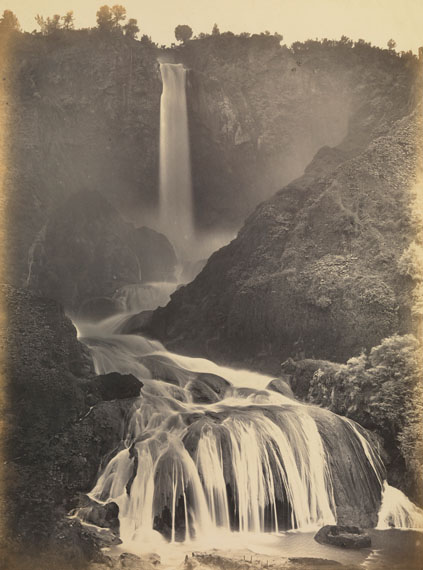Robert MacPherson (1814-1872)The Cascata delle Marmore near Terni, c. 1858Albumen print, 42.2 x 31.3 cm