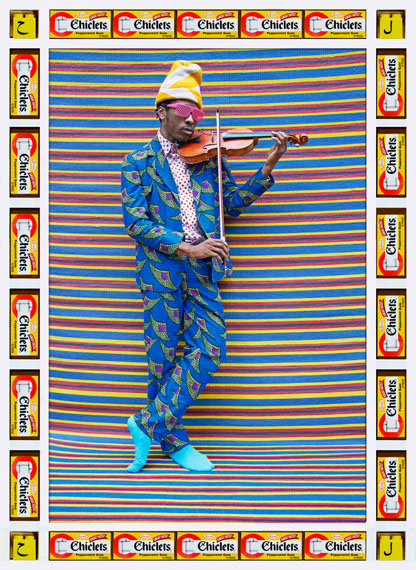 Hassan HajjajMr M. Toliver, 2013Metallic Lambda print on Dibond with wood and found objects34.5 x 25 inCourtesy of the artist and GUSFORD | los angeles
