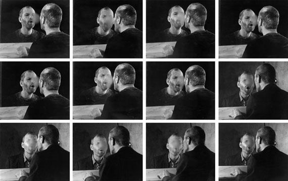 Dieter Appelt: Der Fleck auf dem Spiegel, den der Atemhauch schafft (The Mark on the Mirror Breathing Makes), 1977Courtesy The Walther Collection and Gallery Kicken, Berlin