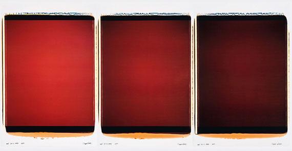 INGE DICKrot, 31.3.1998, 18:35 - 19:02 UhrPolaroids, je 95 x 67 cm, UnikateUnikate