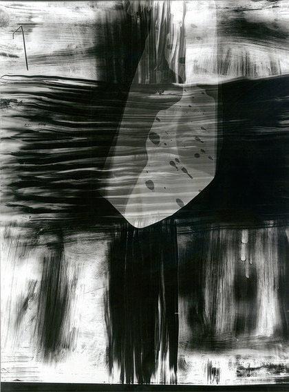 ELISKA BARTEK: Ohne Titel, 2011Serie: Durchbruch zum schwarzen NichtsSilbergelatineabzug, Cliché verre30 x 40 cm, Unikat