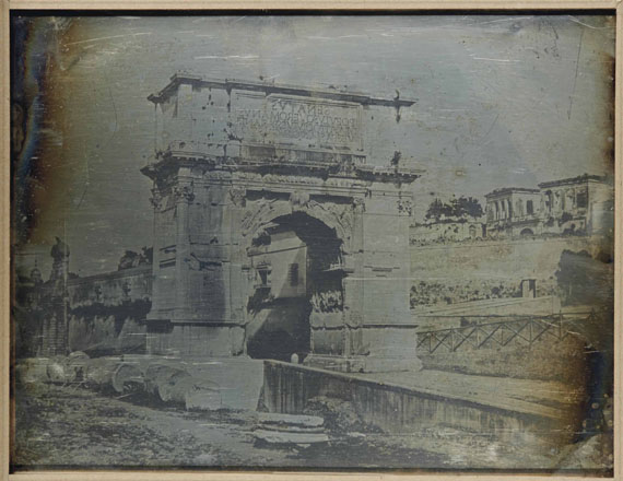 Lot 7 JOSEPH-PHILIBERT GIRAULT DE PRANGEY (1804-1892), 39. Rome. Vue Générale, Arc de Titus, 1842 €20,000–30,000