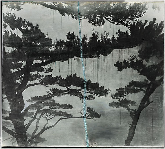 Hybrid Landscapes No.2 (2012)180 x 200cm - Unique Photograph and mixed media on canvas.© SHAO Wenhuan