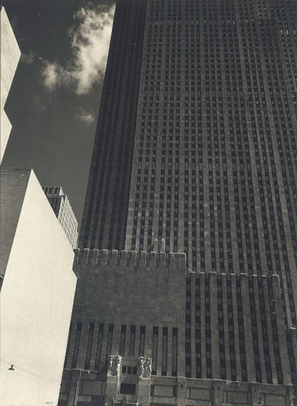 Lot 17Edward Steichen (1879–1973)Rockefeller Center, c. 1932gelatin silver mural printimage/flush-mount: 46 3/4 in. x 35 in. (118.7 x 88.9 cm.)$225,000–275,000© 2015 The Estate of Edward Steichen / Artists Rights Society (ARS), New YorkTo be offered in Photographs: The Evening Sale