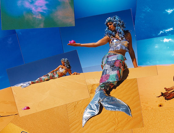 Oum el Dounia (The Mother of the World) 2002 - DetailPhotographic collage. 360 x 120 cm. 700 x 10 x 15 cm C41 prints. © Lara Baladi